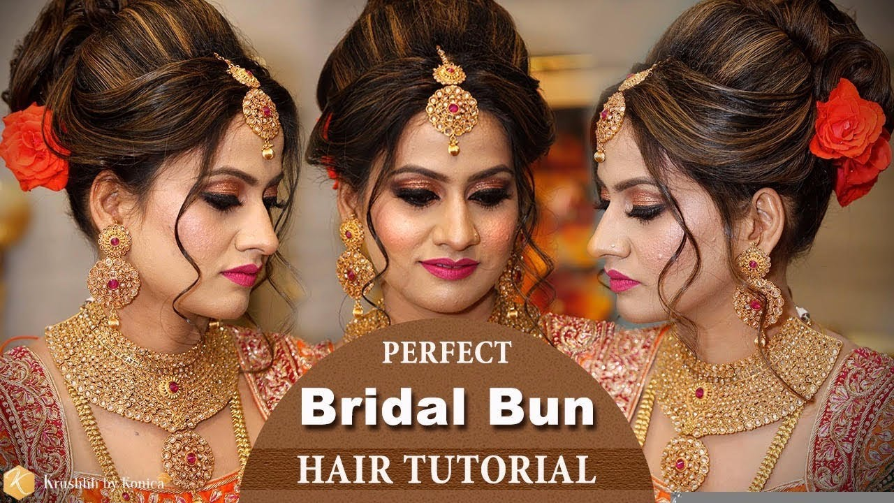 perfect bridal bun hair tutorial