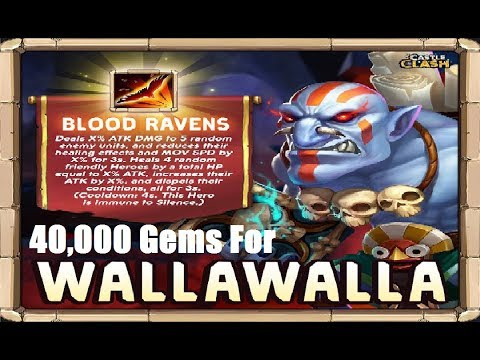 40,000 Gems for WALLAWALLA - New Hero Castle Clash TW Update