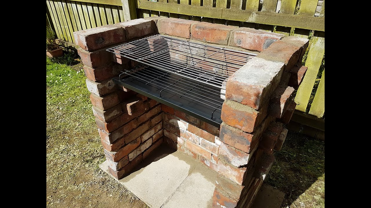 Smoker Outdoor Küche My First And Last Bricks Project Brick Bbq Grill