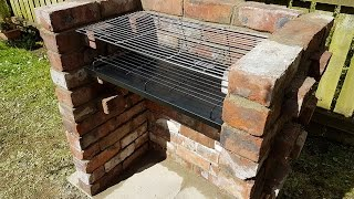 How I build a BRICK BBQ ...never done it before