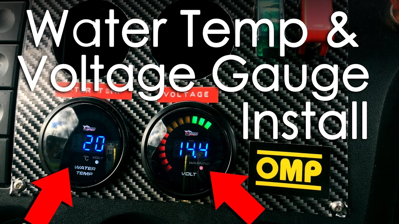wiring and installing water temp voltage gauge from dragon gauges fiesta mk6 build diy [ 1280 x 720 Pixel ]
