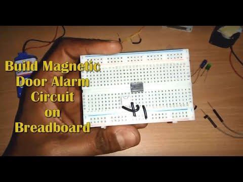 Magnetic Door Alarm Circuit using Hall Sensor