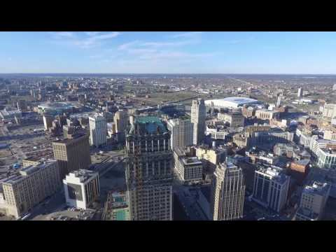 Detroit Skyline from the air