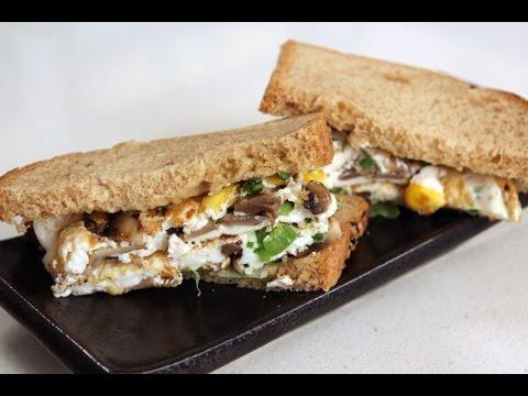 Egg White and Vegetable Omelette Sandwich | Sanjeev Kapoor Khazana