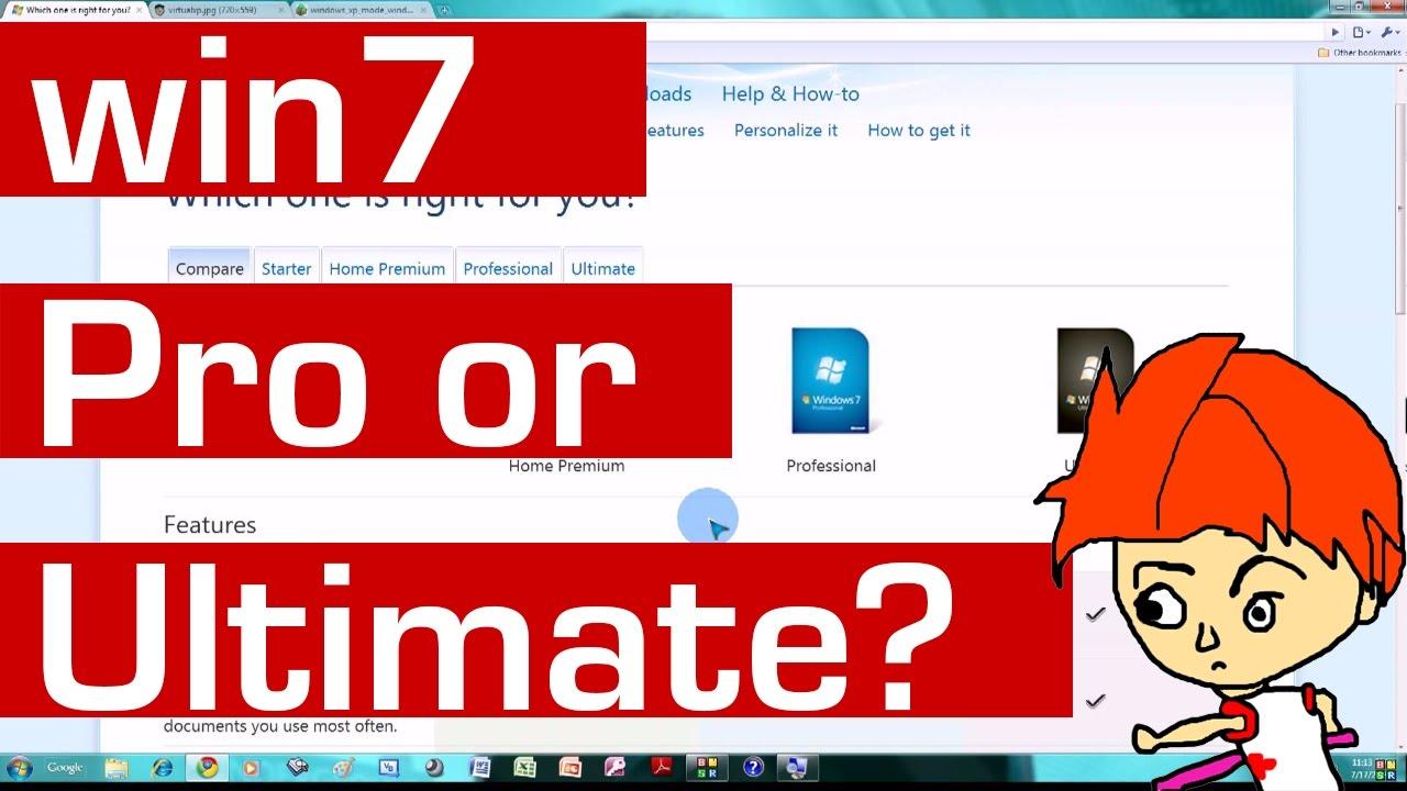 compare windows 7 all editions