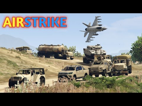 GTA 5 | Military Convoy | Airstrike Hit Military Convoy | Game Loverz |