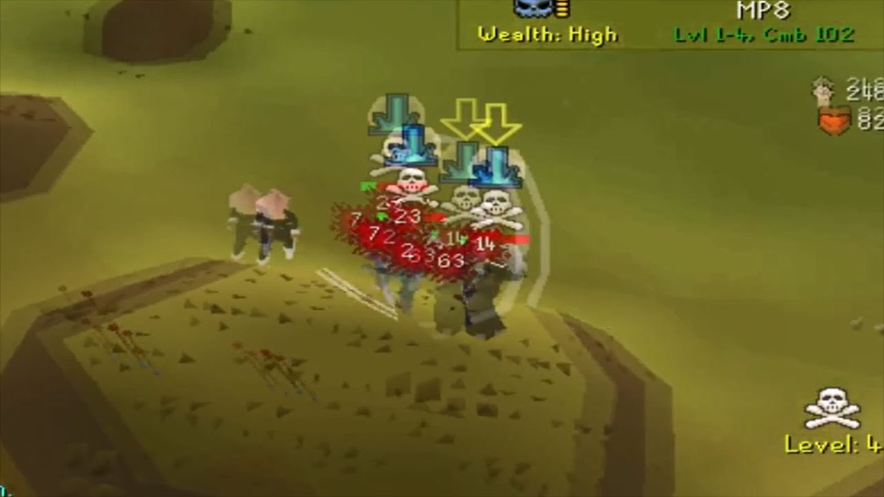 Pking On A Near Maxed 99 Attack Zerker Pure