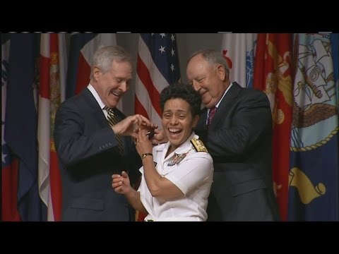 Gateway High School graduate Michelle Howard is the Navy's first female four-star admiral