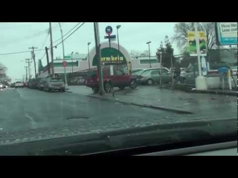 Driving down Linden boulevard crossings Springfield boulevard in Cambria Heights N.Y.  2012