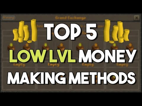 Top 5 Money Making Methods for LOW Level Accounts! - Oldschool Runescape Money Making Guide! [OSRS]