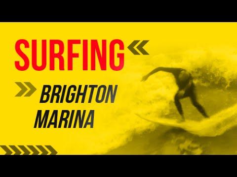 Surfing Brighton Marina 27-7-2015 - Surf