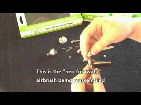 Airbrush   neo for iwata disassembly and reassembly