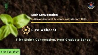 Live: 58th IARI Convocation 2020