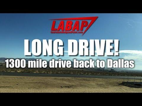 1300 mile drive back to Dallas