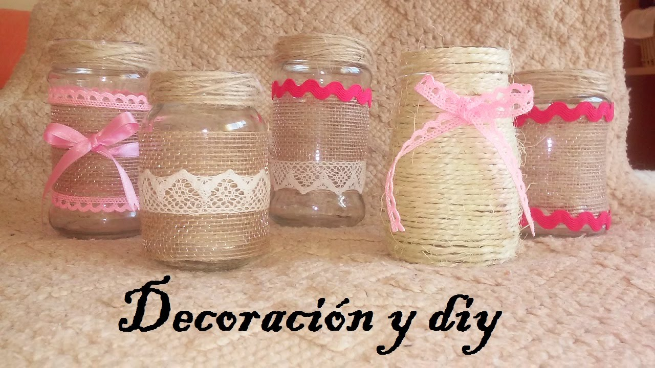 Diy c mo decorar tarros de cristal eventos y decoraci n for Ideas para decorar frascos de vidrio