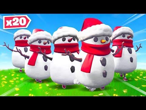 Creating The Biggest Snowman Horde In Fortnite!