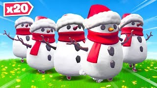 Creating The Biggest Snowman Horde In Fortnite!