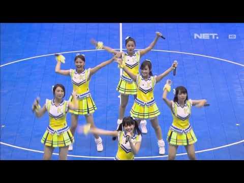 JKT48   Overture + 1234!!! Yoroshiku @Pocari Futsal   YouTube