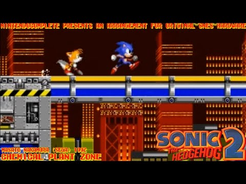 ♫CHEMICAL PLANT ZONE (Sonic the Hedgehog 2) SNES Arrangement - NintendoComplete