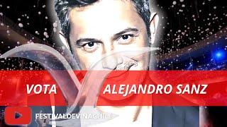 VOTA ALEJANDRO SANZ: Fans votan por el artista más popular de la historia del #FESTIVALDEVIÑA