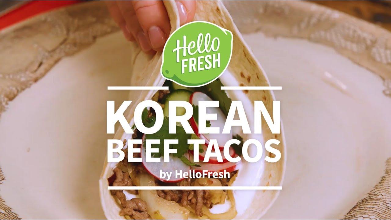 Korean Beef Tacos By Hellofresh Youtube