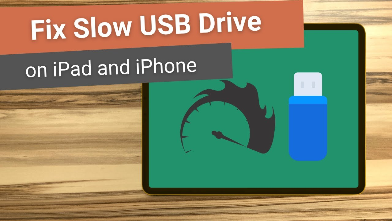 Fix Slow USB Drive Speed on iPad and iPhone | How to Make Thumb Drives Faster on iOS and iPadOS