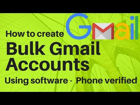 Create unlimited gmail accounts - auto phone verification