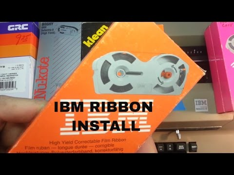 IBM Selectric 2 II Typewriter Ribbon Install Change Replace Tutorial Guide New ink and correction