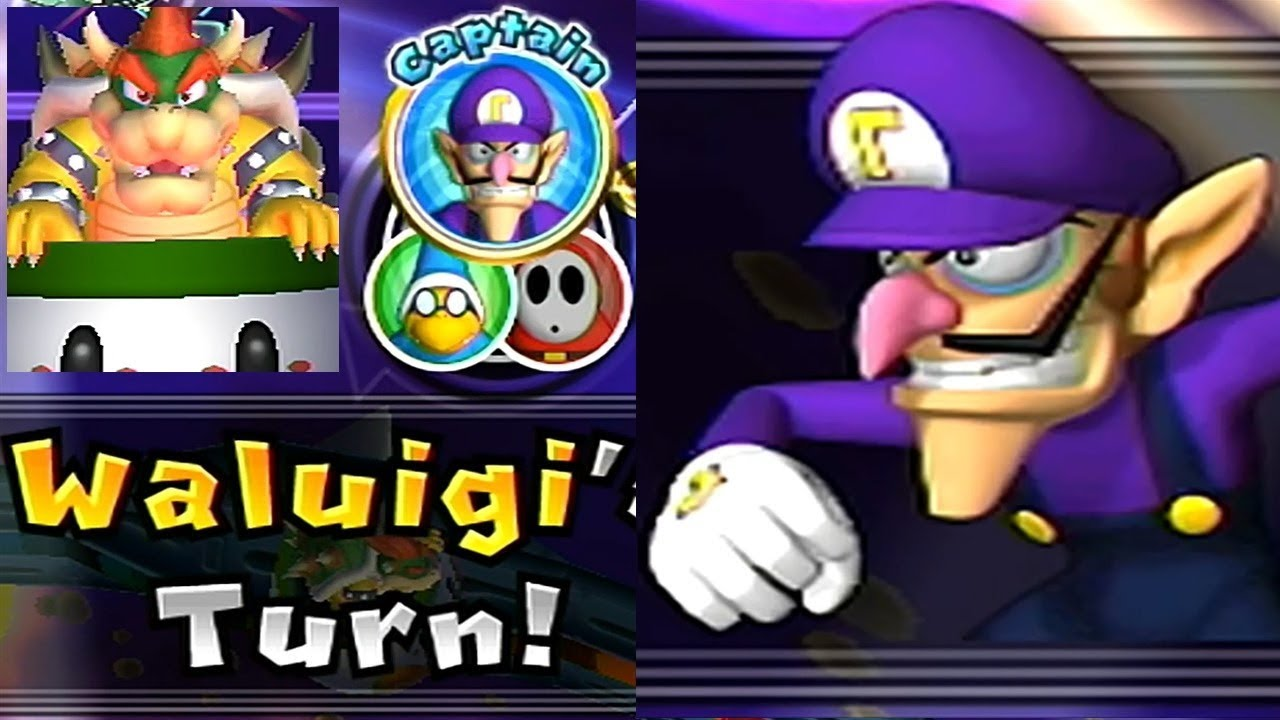 Mario Party 9 Solo Mode 118 Waluigi Bowser Station Youtube