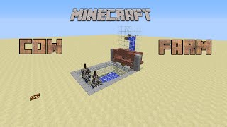 The best automatic cow farm in Minecraft