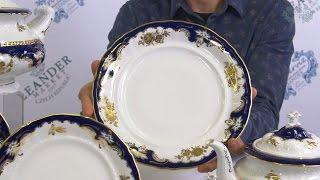 Посуда из белого фарфора Соната (Sonata) Золотая роза, кобальт 1457 (Leander, Чехия)(, 2017-01-08T20:46:39.000Z)