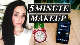 5 Minute Makeup Routine 🕒 Natural Easy Makeup for Getting Out the Door FAST!