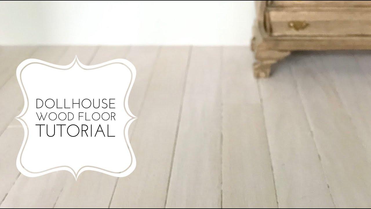 Dollhouse Wood Floor Tutorial