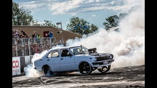 CLEETUS FROM 1320VIDEO SKIDS THELMA THE COROLLA AT SUMMERNATS