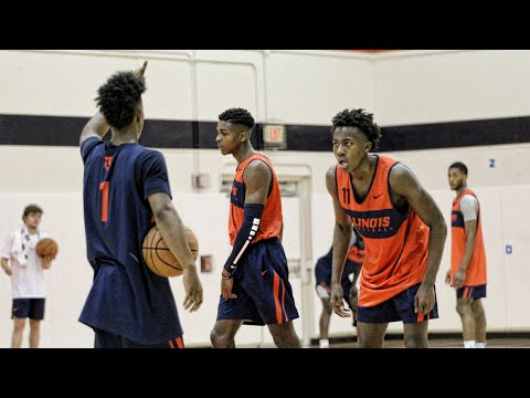 First Day of Practice   Illinois Basketball