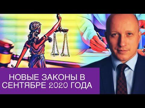 НОВЫЕ ЗАКОНЫ В СЕНТЯБРЕ 2020 ГОДА