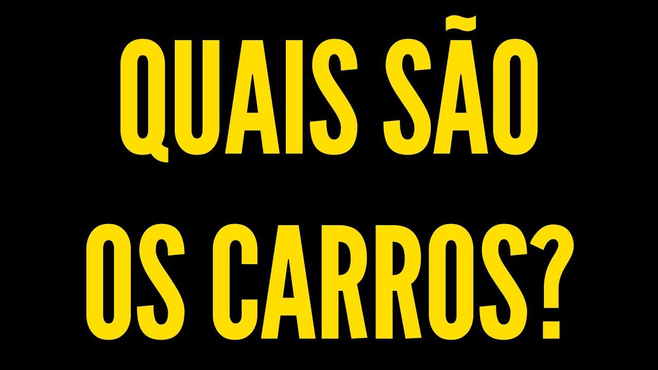 Os CARROS dos CANDIDATOS a PRESIDENTE do BRASIL!
