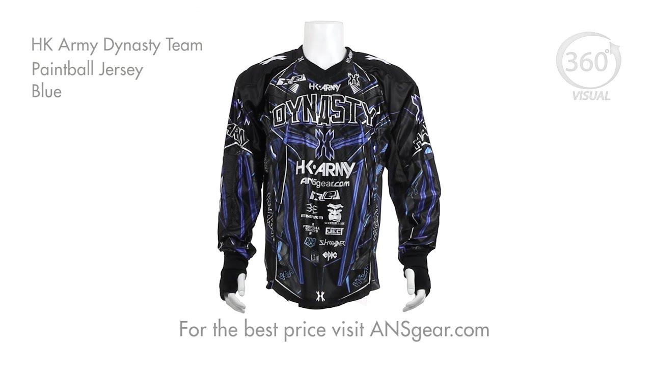 8f19cecd4 HK Army Dynasty Team Paintball Jersey - Blue - Visual 360 - YouTube