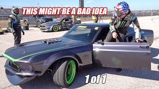 Driving One of the RAREST/Most Valuable Drift Cars EVER MADE!!! 1969 RTR-X Mustang... INSANE!!!