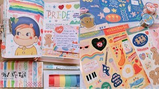 Journal With Me | Happy PRIDE Month 🏳️🌈 +Thai Stationery Haul (stickwithme4ev) | Rainbowholic