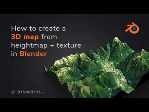 How to create a 3D landscape from heightmap and texture in Blender