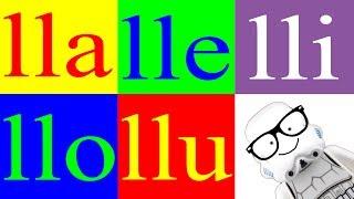 Aprender a Leer 13 - Sílabas lla lle lli llo llu – La Letra ll  - Canal Block 6