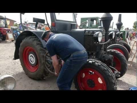 Der Lanz Bulldog Der Motor wird gestartet