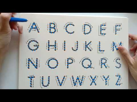 Magnetic Tablet and Stylus | Learn to Write Capital Letters ABC