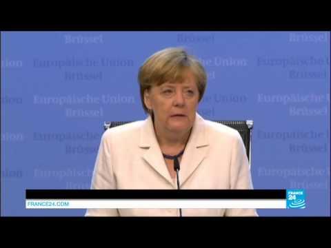 GREECE DEBT CRISIS - Angela Merkel, the German chancellor's speech