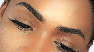 SUPER THICK Natural Looking Eyebrow Tutorial ▸ VICKYLOGAN