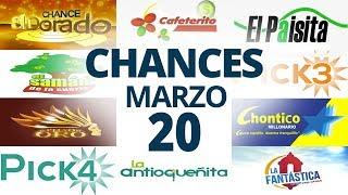 Resultados del Chance del Viernes 20 de Marzo de 2020 | Loterías 😱🤑💰💵