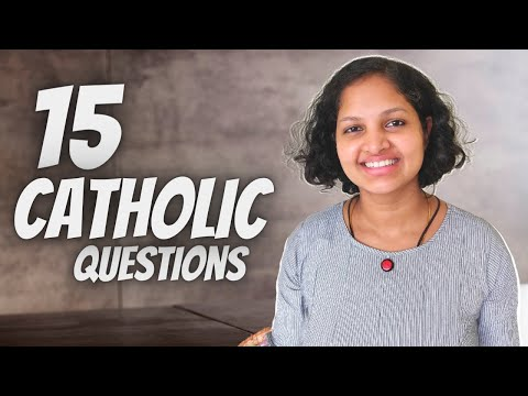 Her favourite SAINT is St.JOSEPH !!! ( 15 CATHOLIC questions ) with Silpa Paul