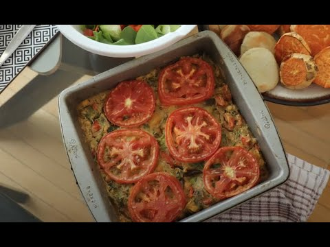 VEGAN VEGGIE FRITTATA – HEALTHY VEGAN RECIPE // Cooking with Pulses