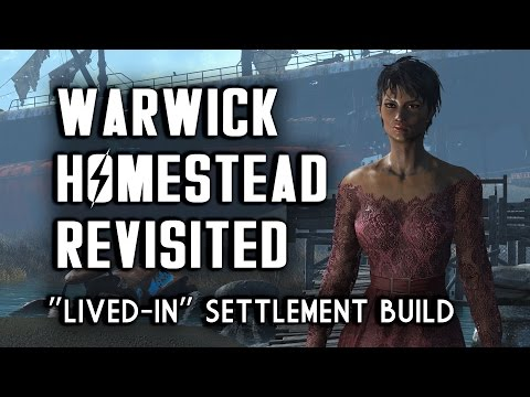 "Warwick Homestead Revisited - ""Lived-in"" Fallout 4 Settlement Build"